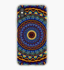 Kaleidoscope 4 abstract stained glass mandala pattern iPhone Case