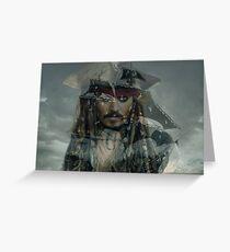 Captain Jack Sparrow und die Schwarze Perle Grußkarte