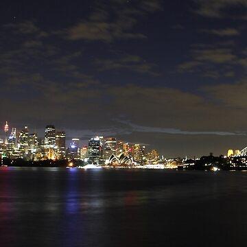 Sydney Lights Up by Boxbrowney