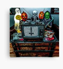 Halloween III - Say You Love Satan 80s Horror Podcast Canvas Print