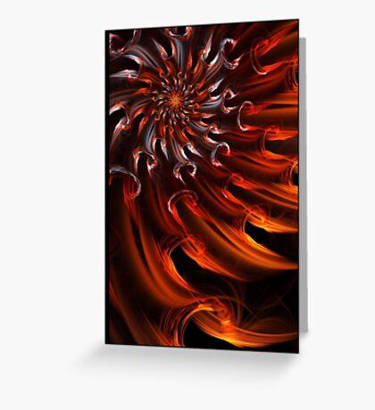 Solar Waves - Abstract Fractal Art Greeting Card