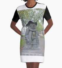 """Statue, """"There is a heart under my jacket.""""  Graphic T-Shirt Dress"""