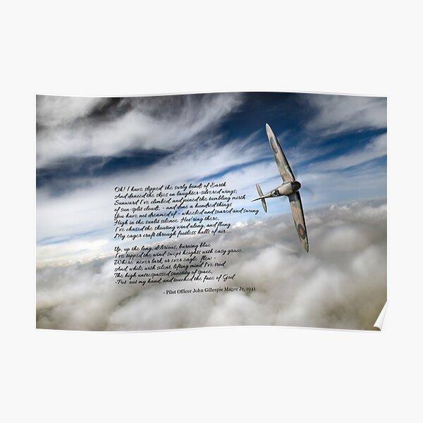 High Flight Spitfire solo Poster