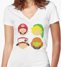 Nintendo Greats Women's Fitted V-Neck T-Shirt