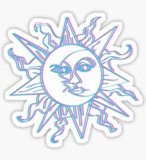 Moon vs. Sun Sticker