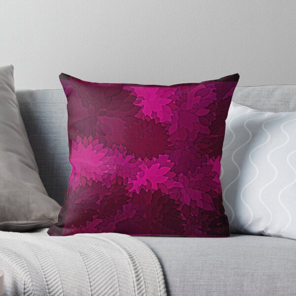 Ornamental Pattern with Red Colour Art Design 2021 Throw Pillow