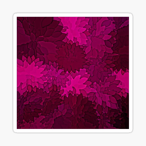 Ornamental Pattern with Red Colour Art Design 2021 Sticker