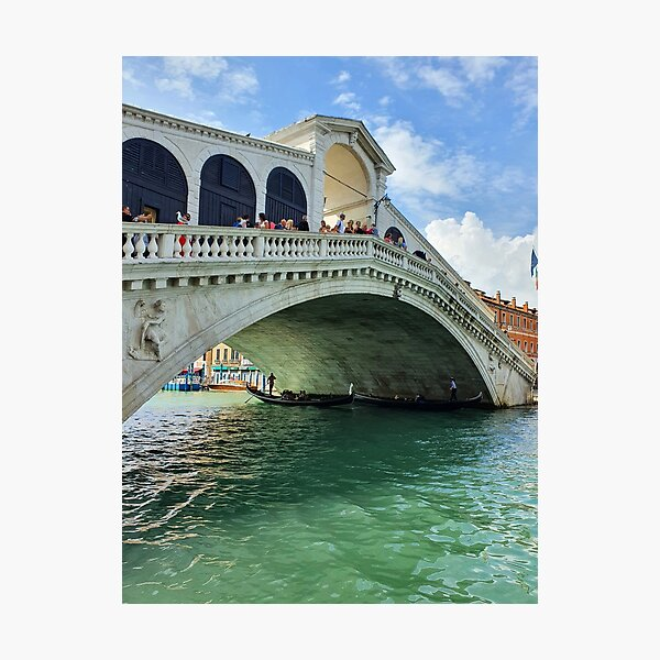 Venice Rialto Bridge view Photographic Print