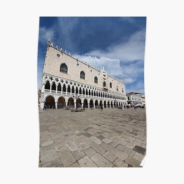 Venice Doge Palace view Poster