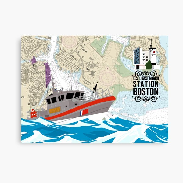 Chart Art - Coast Guard Station Boston Canvas Print