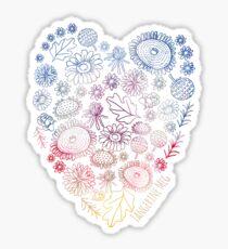 Happy Flower Heart Sticker