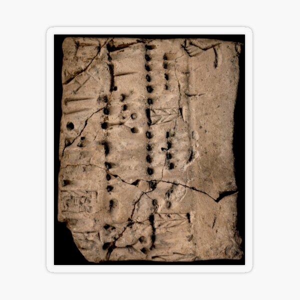 Proto-Elamite (ca. 3100-2900 BC) Clay Tablet, Language Undetermined Transparent Sticker