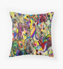 Dogs, Dogs, DOGS! Throw Pillow