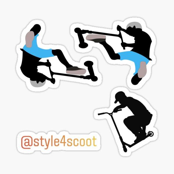 Stunt Scooter Rider Freestyle Sticker