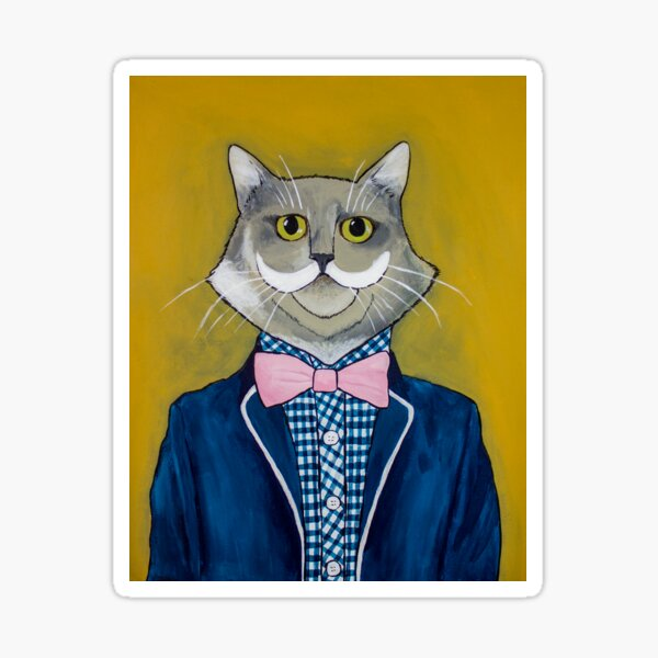 Hipster Cat Sticker