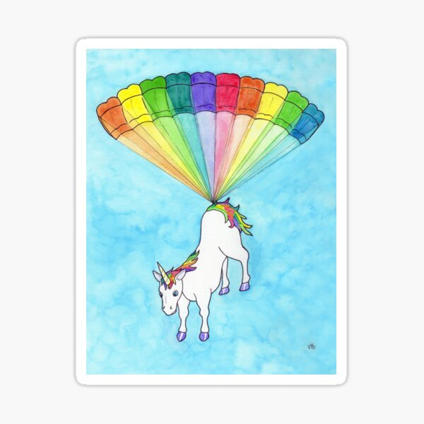 Unicorn Delivery Sticker