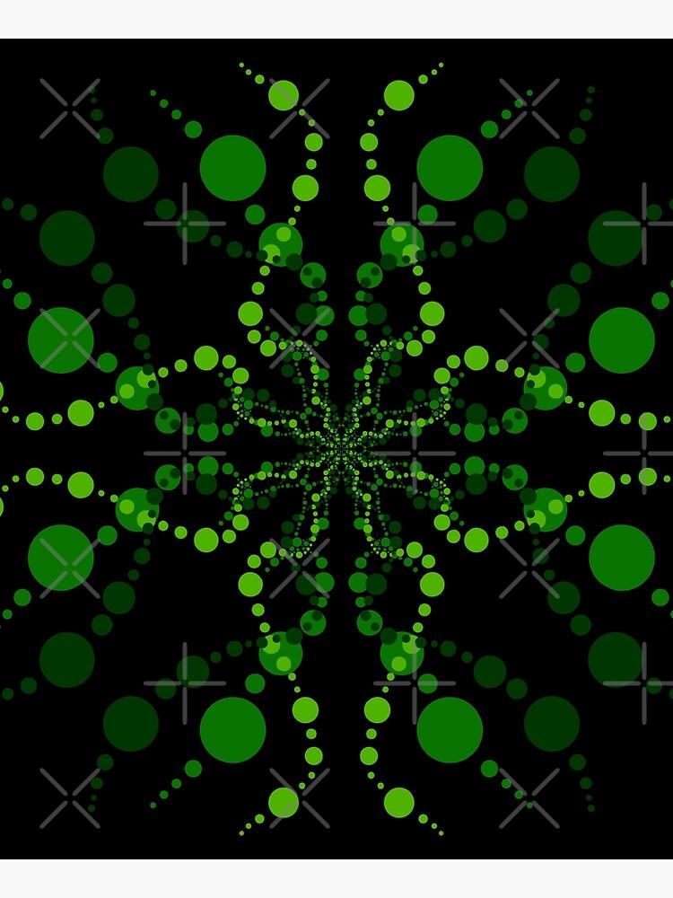 Green Zen Vibes Kaleidoscope Art by that5280lady