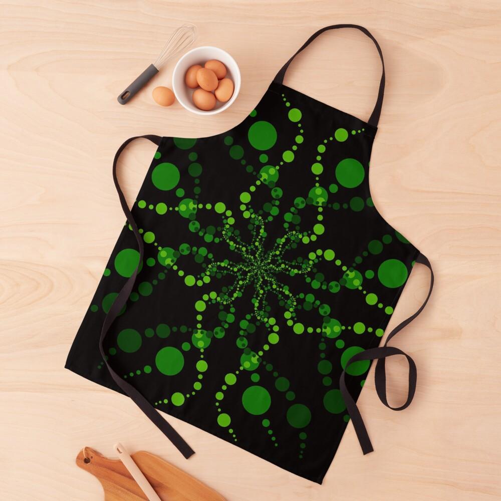 Green Zen Vibes Kaleidoscope Art Apron
