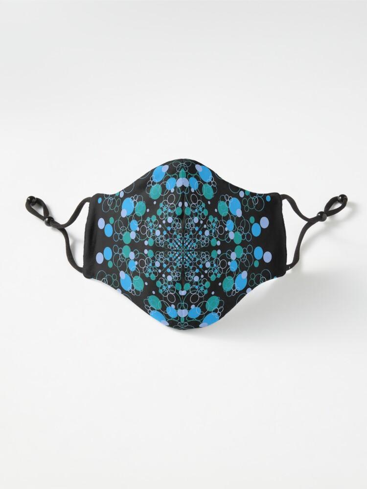 Alternate view of Blue Ocean Wave Symmetrical Vibes Mask
