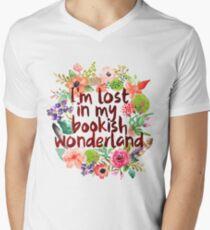I'M LOST IN MY BOOKISH WONDERLAND  Men's V-Neck T-Shirt
