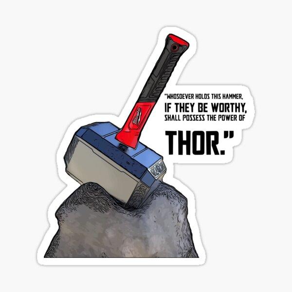 Milwaukee Hammer Worthy Sticker