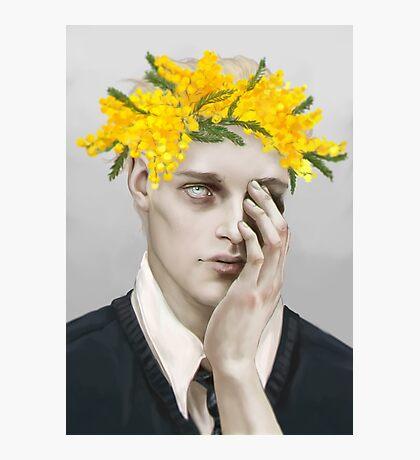 Flower crown Noah Photographic Print