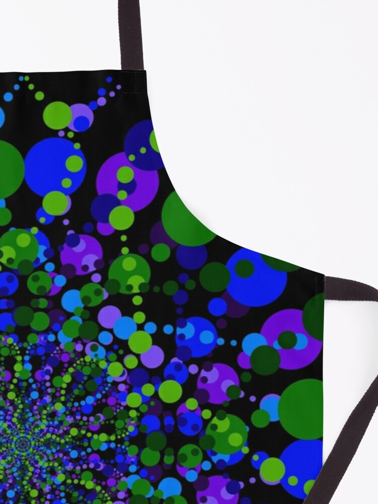 Alternate view of Blue Green Purple Zen Vibes Kaleidoscope Art Apron
