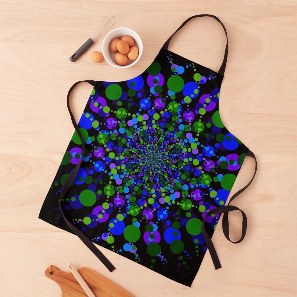 Blue Green Purple Zen Vibes Kaleidoscope Art Apron