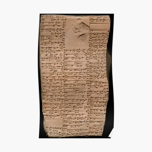 Clay Tablet, Period: Ur III (ca. 2100-2000 BC)  Poster