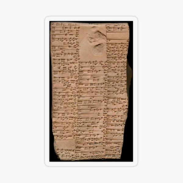 Clay Tablet, Period: Ur III (ca. 2100-2000 BC)  Transparent Sticker
