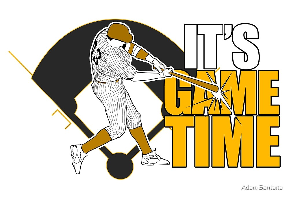 It's Game Time - Baseball (Yellow) by Adam Santana