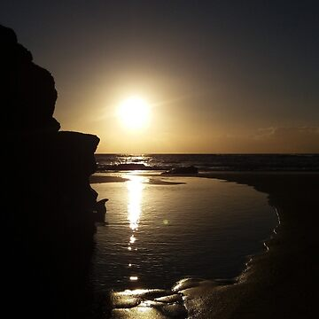 Beach Sunset Cornwall by Tinyevilpixie1