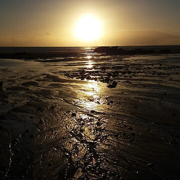 Sunset over Whitsand bay, Cornwall, UK by Tinyevilpixie1