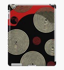 Red Black Retro Pattern  iPad Case/Skin