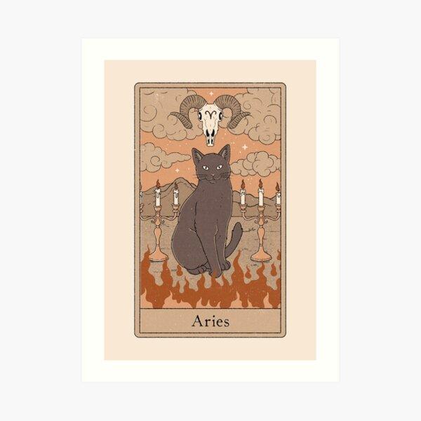 Aries Cat Art Print