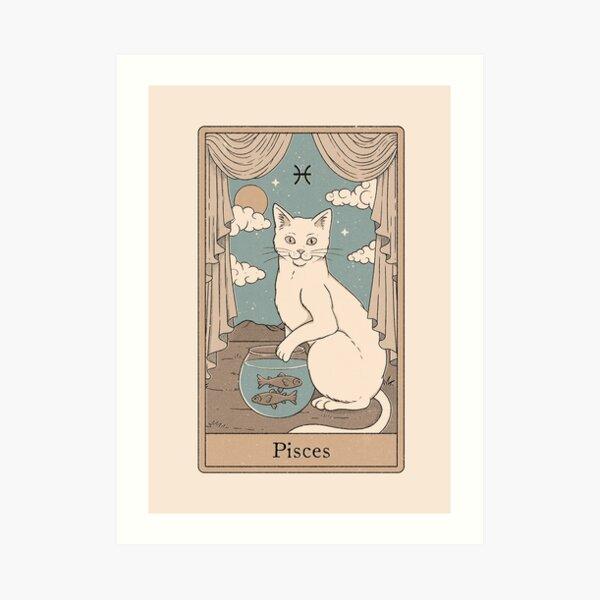 Pisces Cat Art Print