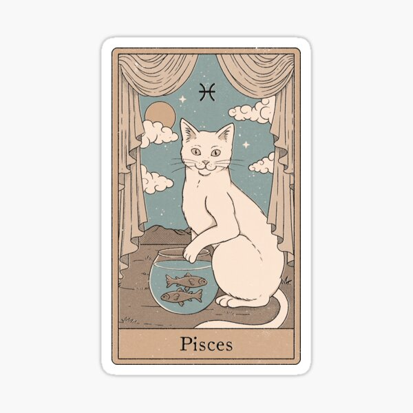 Pisces Cat Sticker
