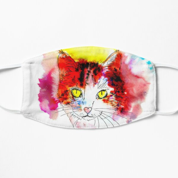 Tabby Cat Popart Mask