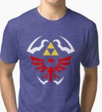 Hylian Shield - Legend of Zelda Tri-blend T-Shirt