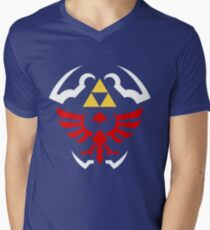 Hylian Shield - Legend of Zelda Men's V-Neck T-Shirt
