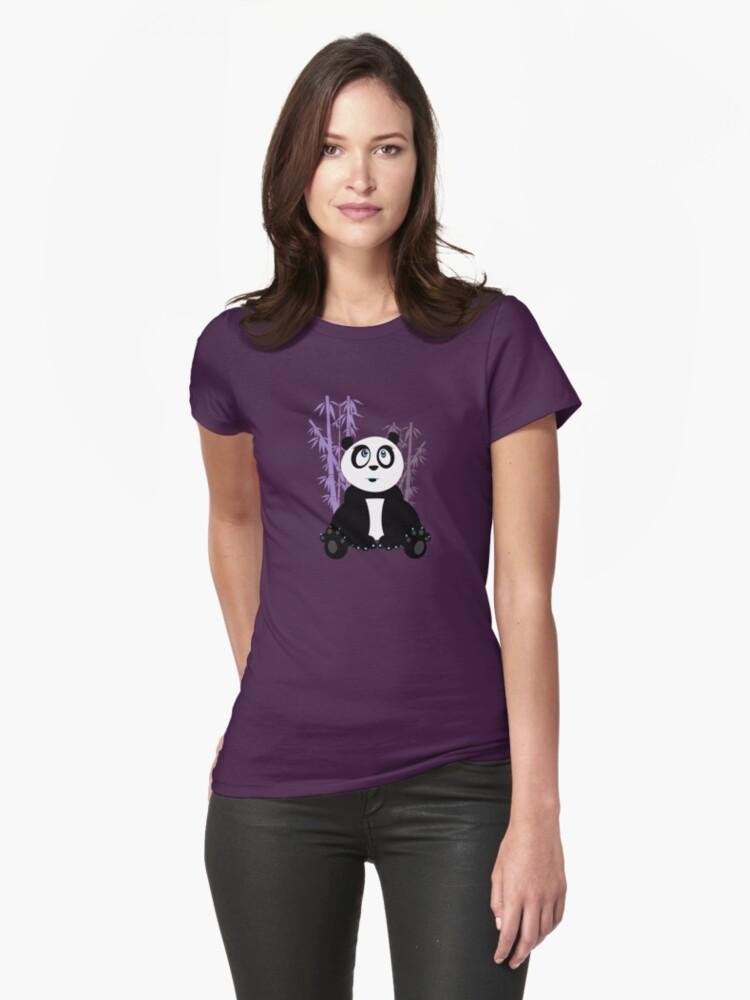 Panda Girl - Purple by Adam Santana