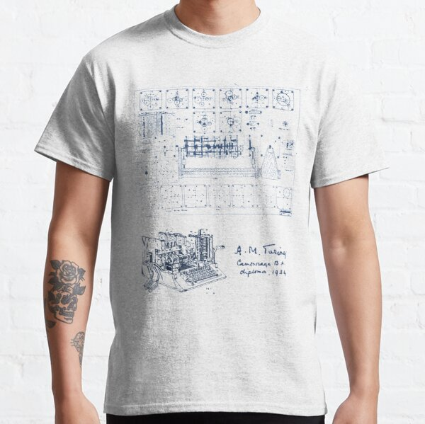 Alan Turing Machine Blueprint Classic T-Shirt