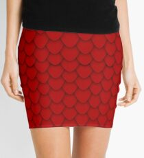 Red Dragon Scales Mini Skirt