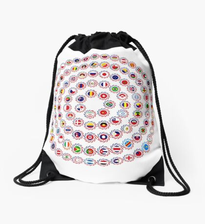 We Are America Multinational Patriot Flag Collective 1.0 Drawstring Bag