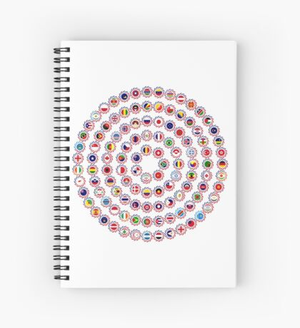We Are America Multinational Patriot Flag Collective 1.0 Spiral Notebook