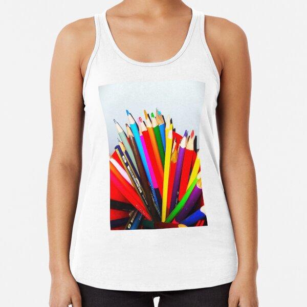 Amazing pencils colors Racerback Tank Top