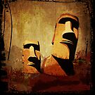 Easter Island Moai Heads by tinymystic