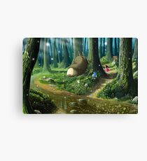 Totoro and Mei Canvas Print