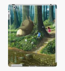 Totoro and Mei Vinilo o funda para iPad
