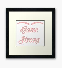 Eyebrow Game Strong Framed Print